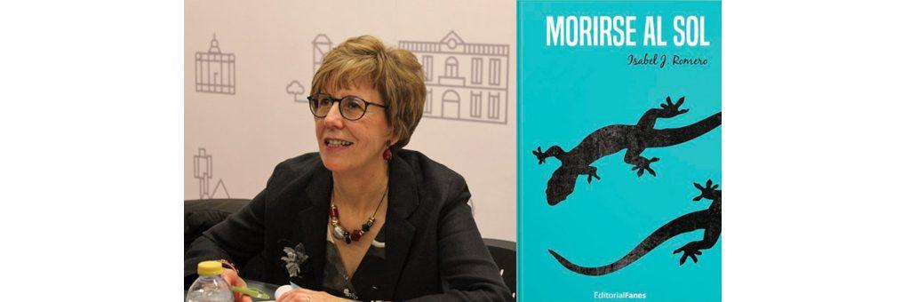 Isabel J. Romero en el Bibliotren
