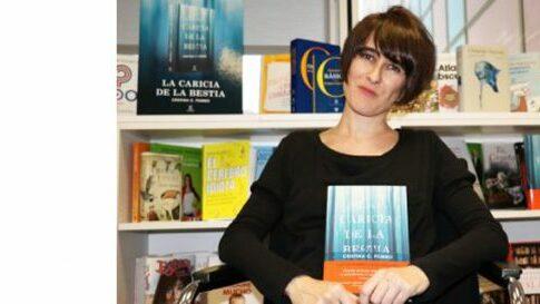 Cristina C. Pombo en el Bibliotren