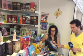 Laura Pascual en el Bibliotren