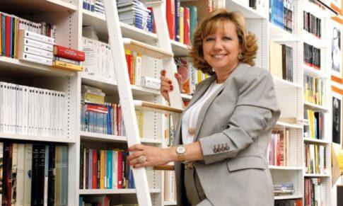 Mª Ángeles López de Celis en el Bibliotren