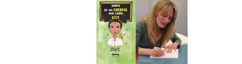 Alicia G. García en el Bibliotren