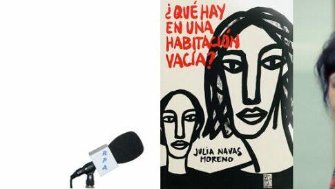 Julia Navas en el Bibliotren