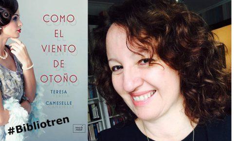 Teresa Cameselle en el Bibliotren