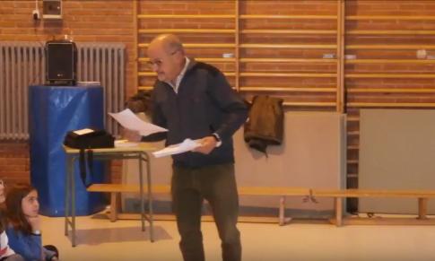 Taller de poesía en el colegio Elisburu de Gijón