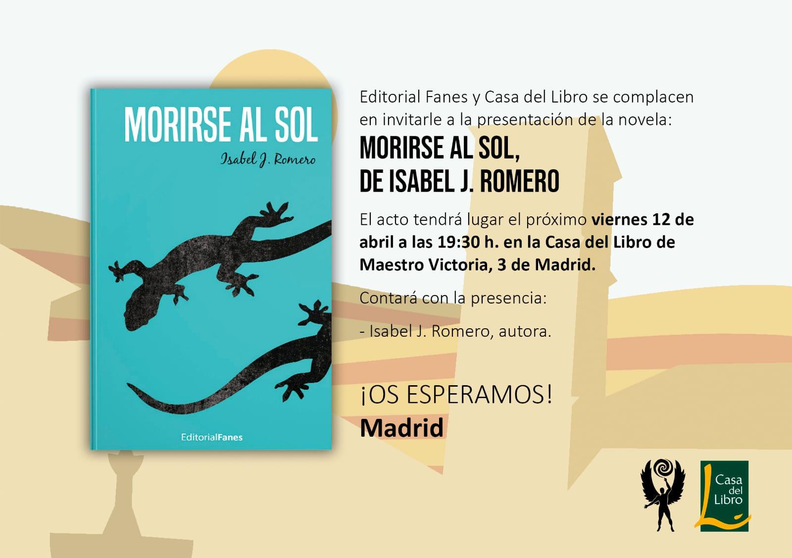Presentación en abril en Madrid