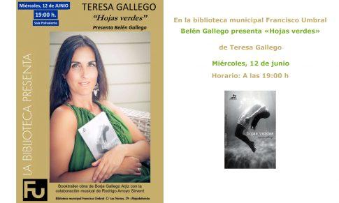 Teresa Gallego presenta Hojas verdes en Majadahonda