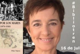 Pilar Tejera en el Bibliotren