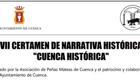 VII Certamen de Narrativa Histórica Cuenca Histórica – Finaliza 30 de agosto