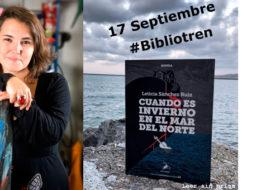 Leticia Sánchez en el Bibliotren