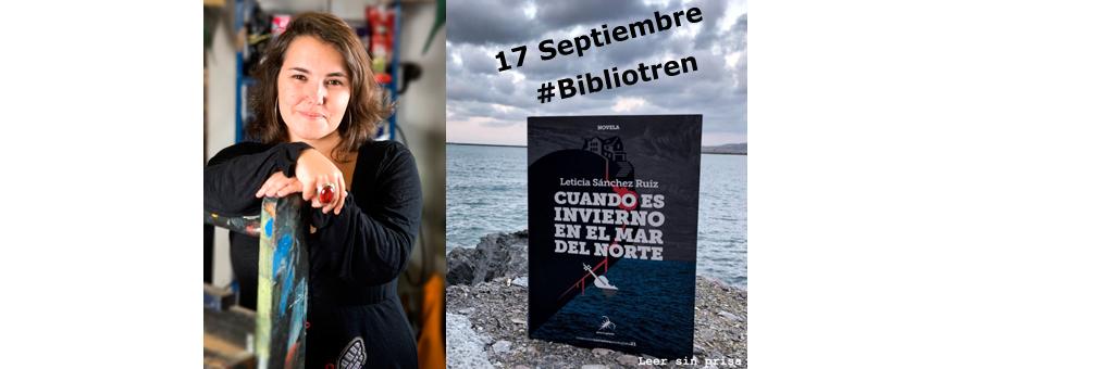 Leticia Sánchez en el #Bibliotren de la AEN