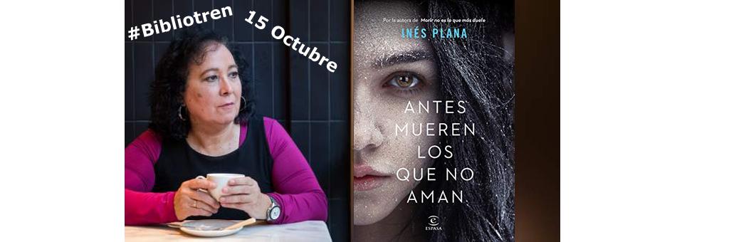 Inés Plana en el Bibliotren