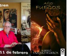 Alberto Vázquez-Figueroa en el Bibliotren