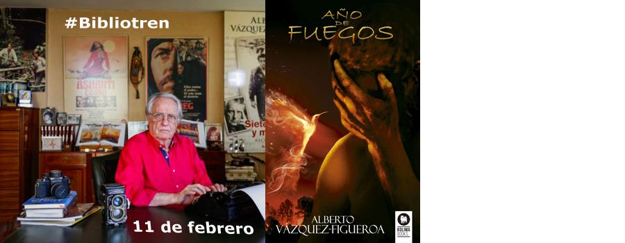 Alberto Vázquez en el Bibliotren