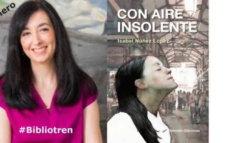 Isabel Núñez en el Bibliotren