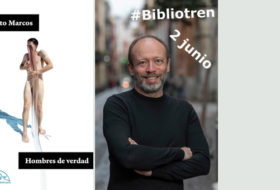 Alberto Marcos en el Bibliotren