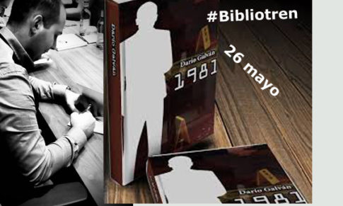 Darío Galván en el Bibliotren