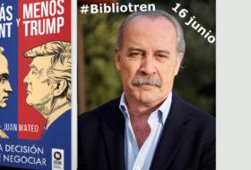 Juan Mateo en el Bibliotren con «Más Kant y menos Trump»