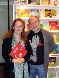 Xosé Ballesteros y Manuela Rodríguez, directores de la Editorial Kalandraka en los encuentros AEN