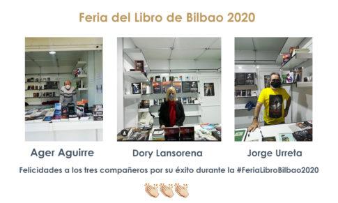 Ager, Jorge y Dory en la Feria del Libro de Bilbao 2020