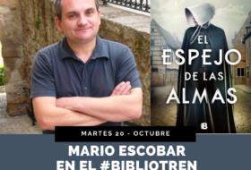 Mario Escobar en el Bibliotren