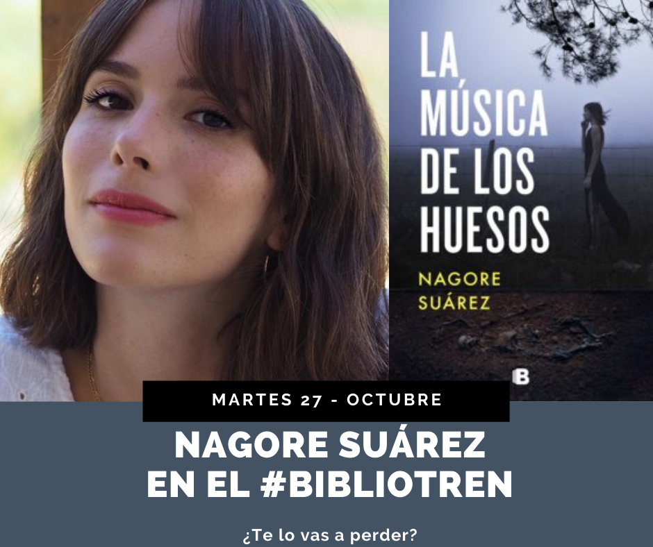 Nagore Suárez en el Bibliotren