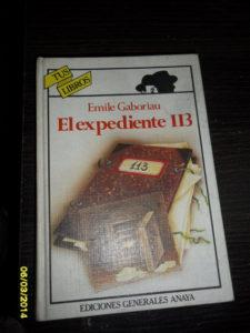 El expediente 113 de Emile Gaboriau