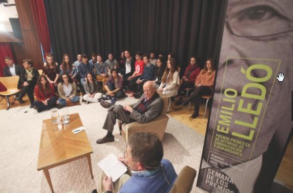 Emilio Lledó en el III Congreso de Escritores en Gijón