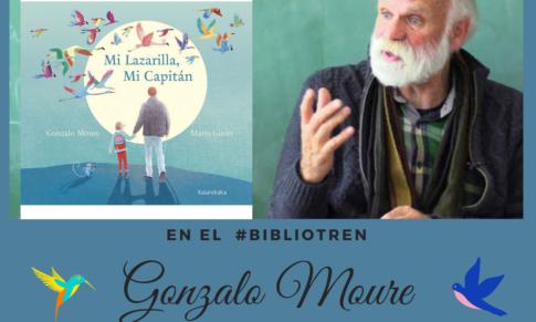 Gonzalo Moure en el Bibliotren