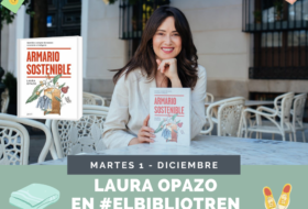 Laura Opazo en el Bibliotren