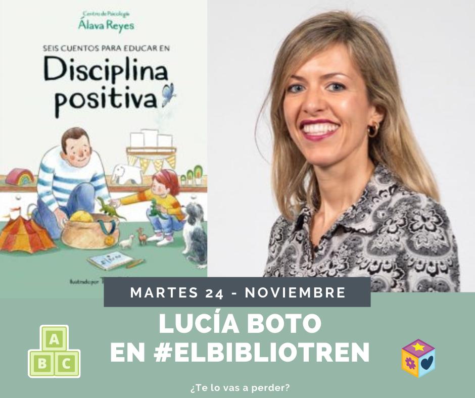 Lucía Boto en el Bibliotren