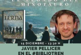 Javier Pellicer en el Bibliotren