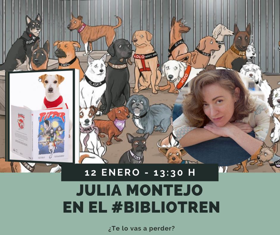 Pipper y Julia Montejo en el Bibliotren