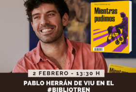 Pablo Herrán de Viu en el Bibliotren