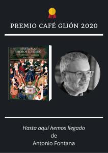 Antonio Fontana Premio Café Gijón 2020