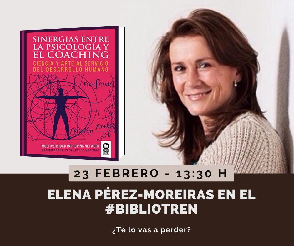 Elena Pérez Moreiras en el Bibliotren