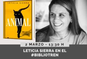 Leticia Sierra en el Bibliotren