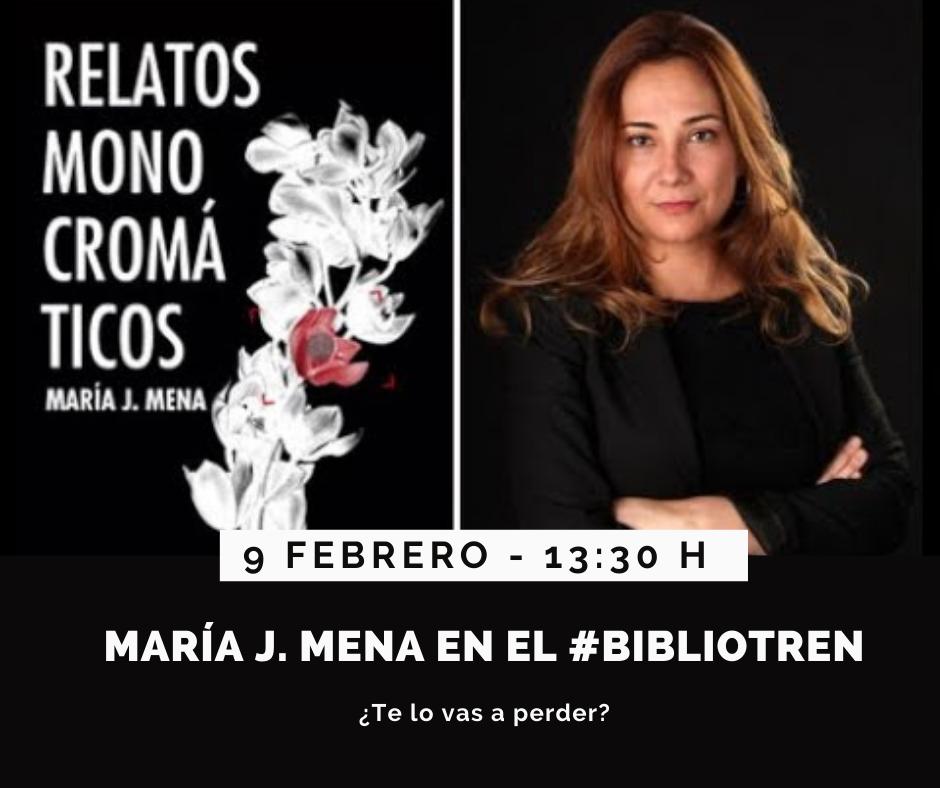 María J. Mena en el Bibliotren