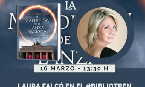 Laura Falcó en el Bibliotren