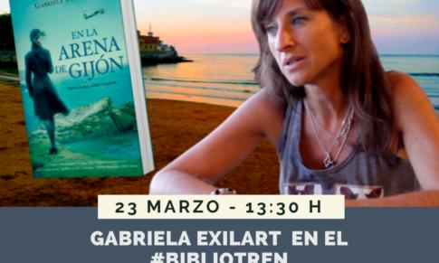 Gabriela Exilart en el Bibliotren
