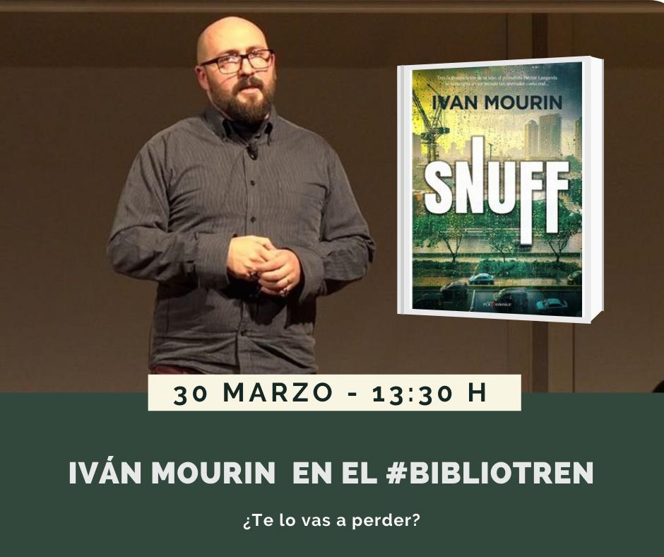 Ivan Mourin en el Bibliotren