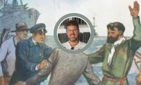 Ante la bandera de Julio Verne