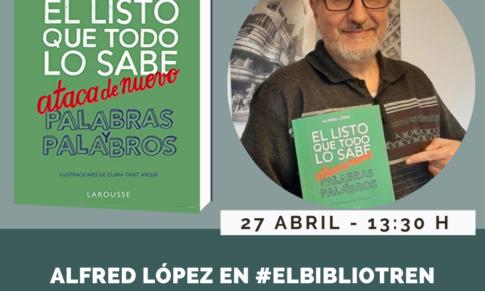 Alfred López en el Bibliotren