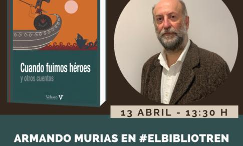 Armando Murias en el Bibliotren