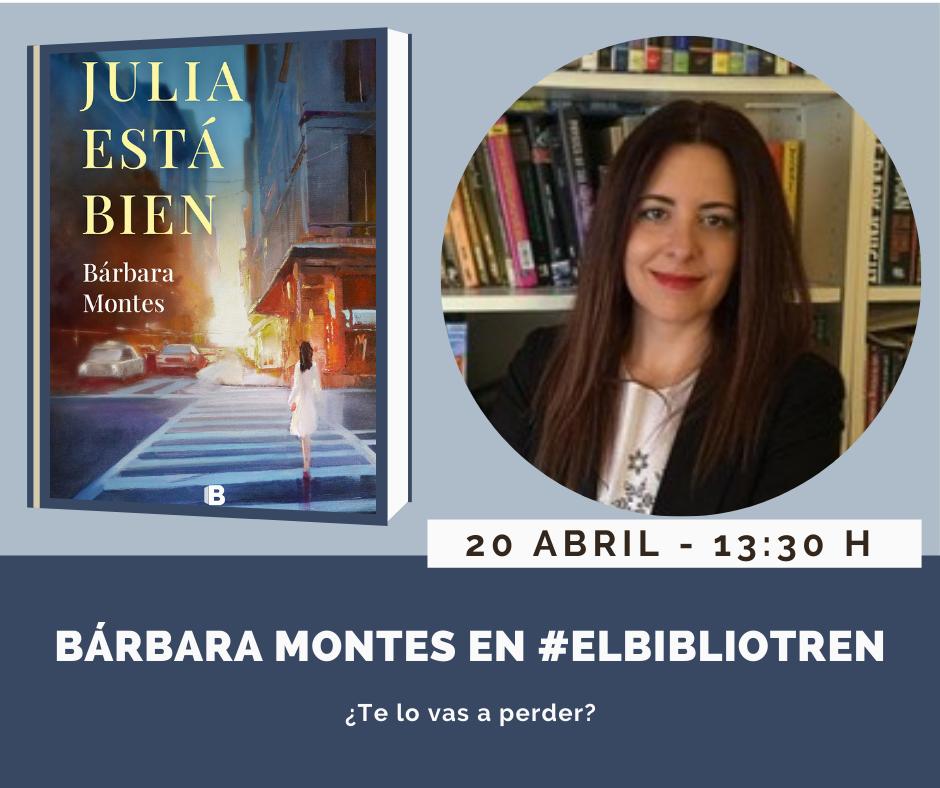 Bárbara Montes en el Bibliotren