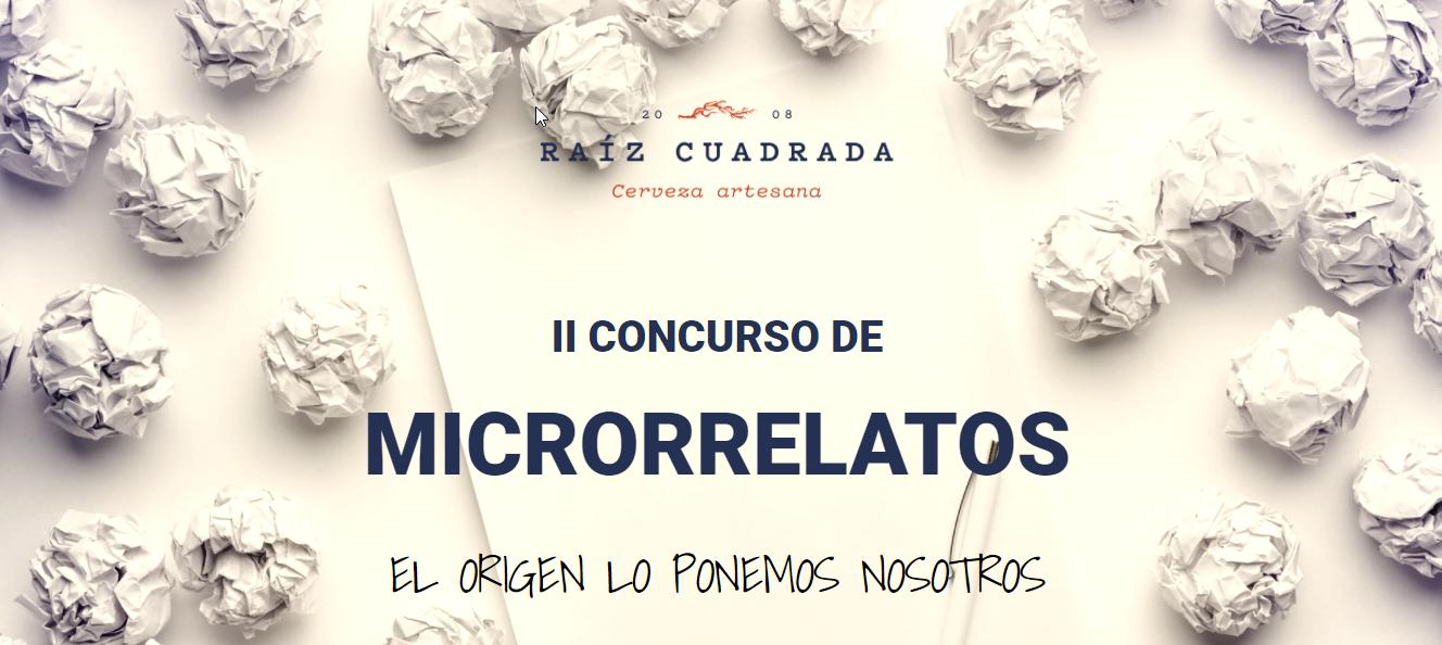 II concurso microrrelatos raíz cuadrada cerveza