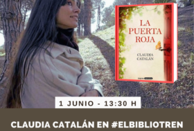 Claudia Catalán en el Bibliotren