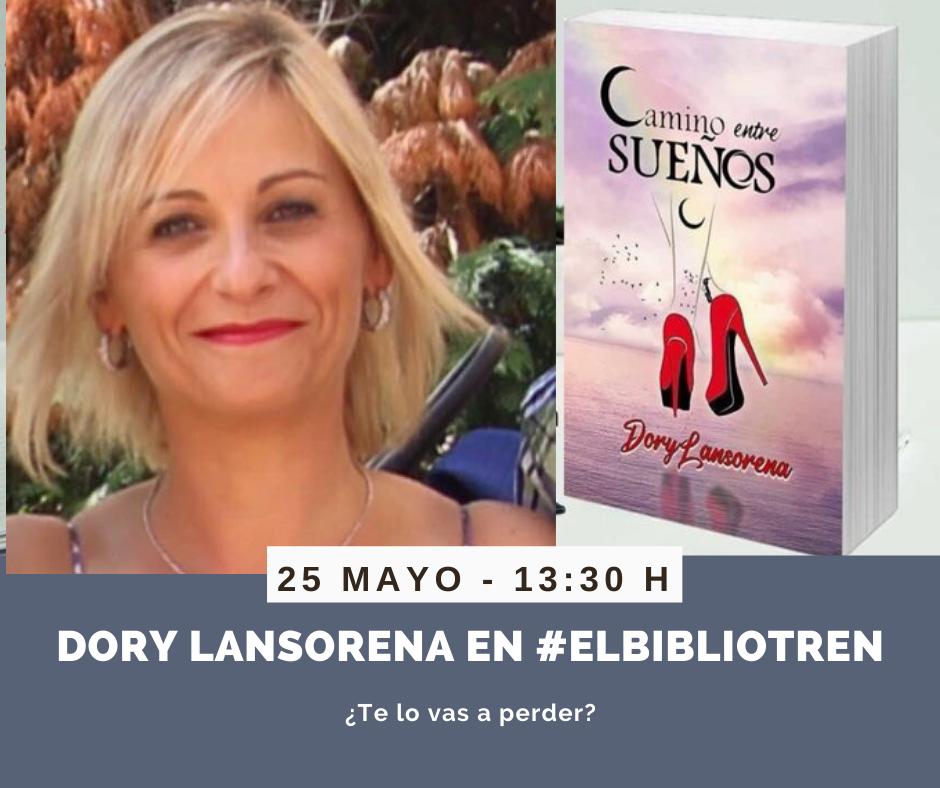 Dory Lansorena en el Bibliotren