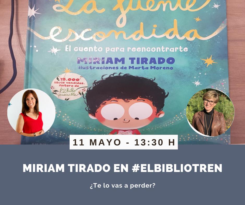 Miriam Tirado en el Bibliotren