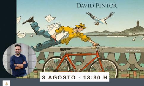 David Pintor en el Bibliotren