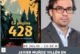 Javier Muñoz Villén en el Bibliotren